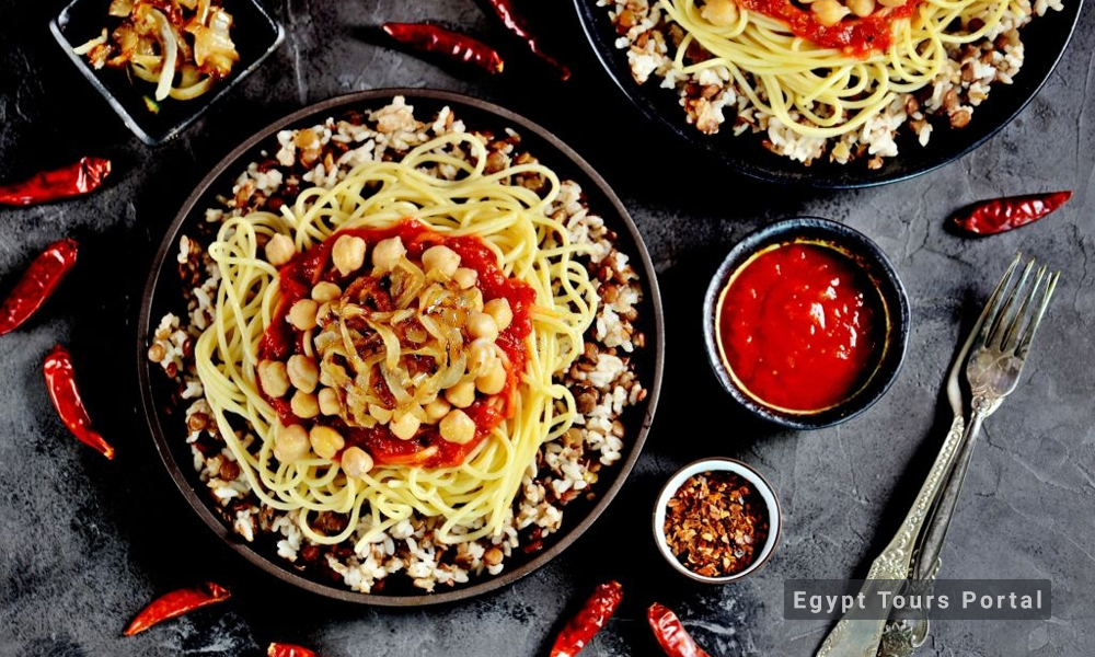 Kushari - Egyptian Food - Egypt Tours Porta