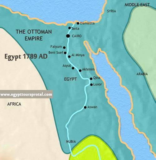 Ancient Egypt Map 1789 AD - Egypt Tours Portal