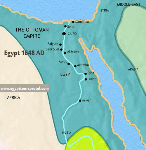 Ancient Egypt Map 1648 AD - Egypt Tours Portal