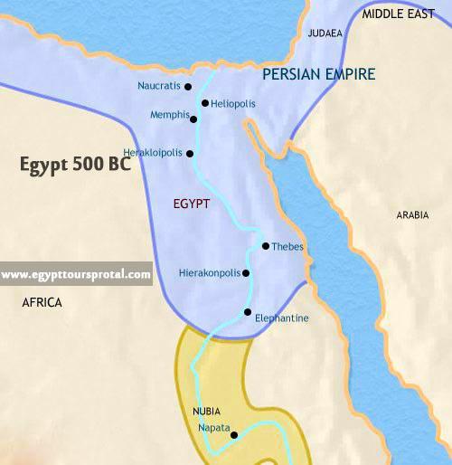 Ancient Egypt Map 500 BCE - Egypt Tours Portal
