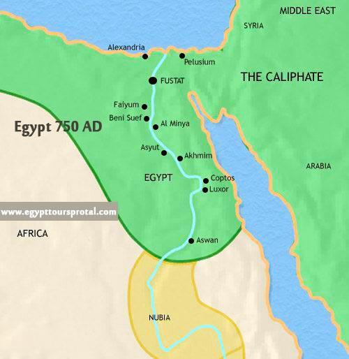Ancient Egypt Map 750 AD - Egypt Tours Portal