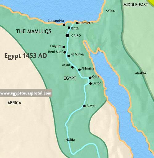Ancient Egypt Map1453 AD - Egypt Tours Portal