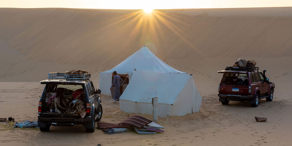 Camping out in the desert - What to do beyond the Usual Sites in Egypt - Egypt Tours Portal