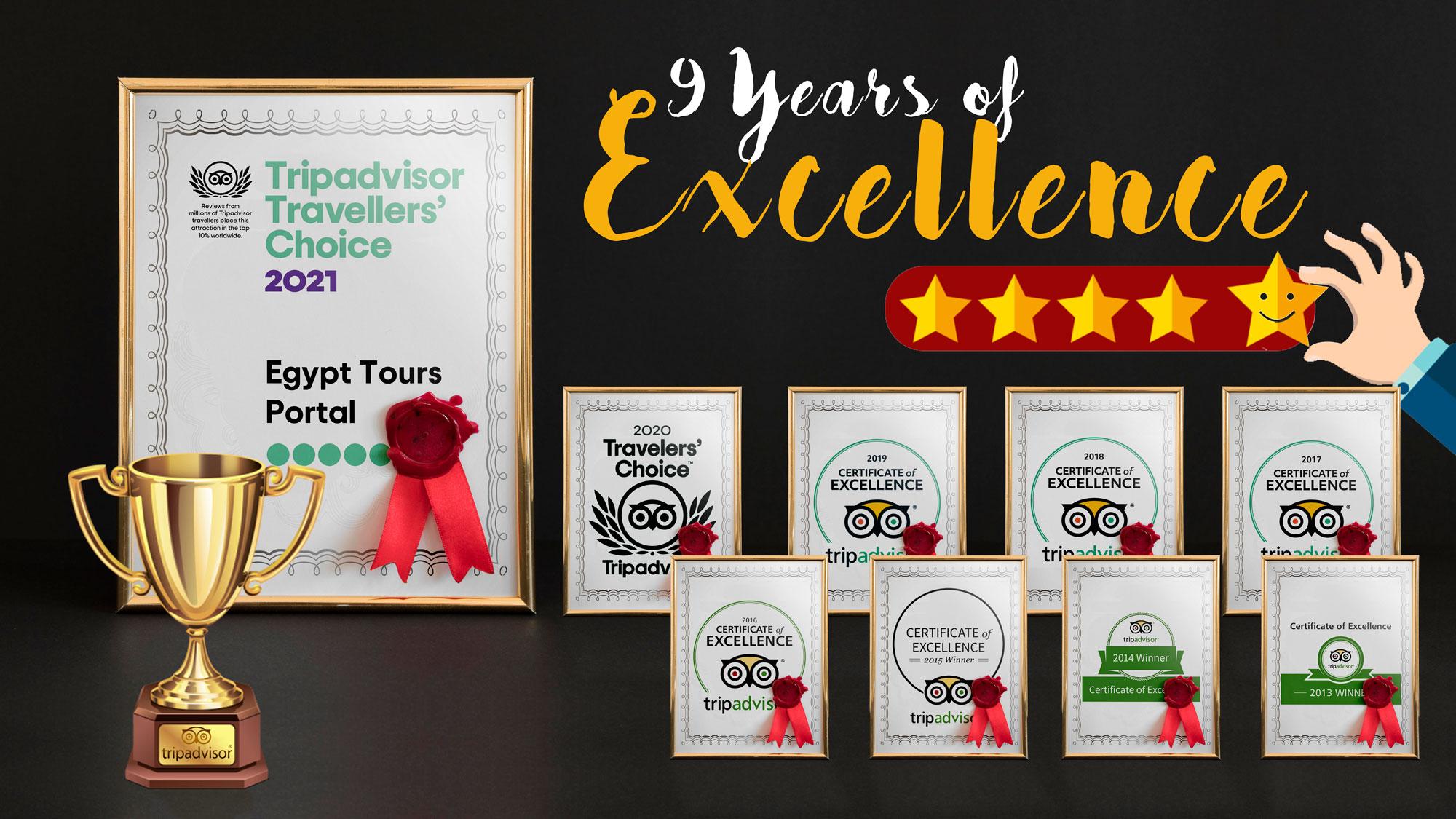 9 Years of Winning TripAdvisor Traveler Choice - Egypt Tours Portal